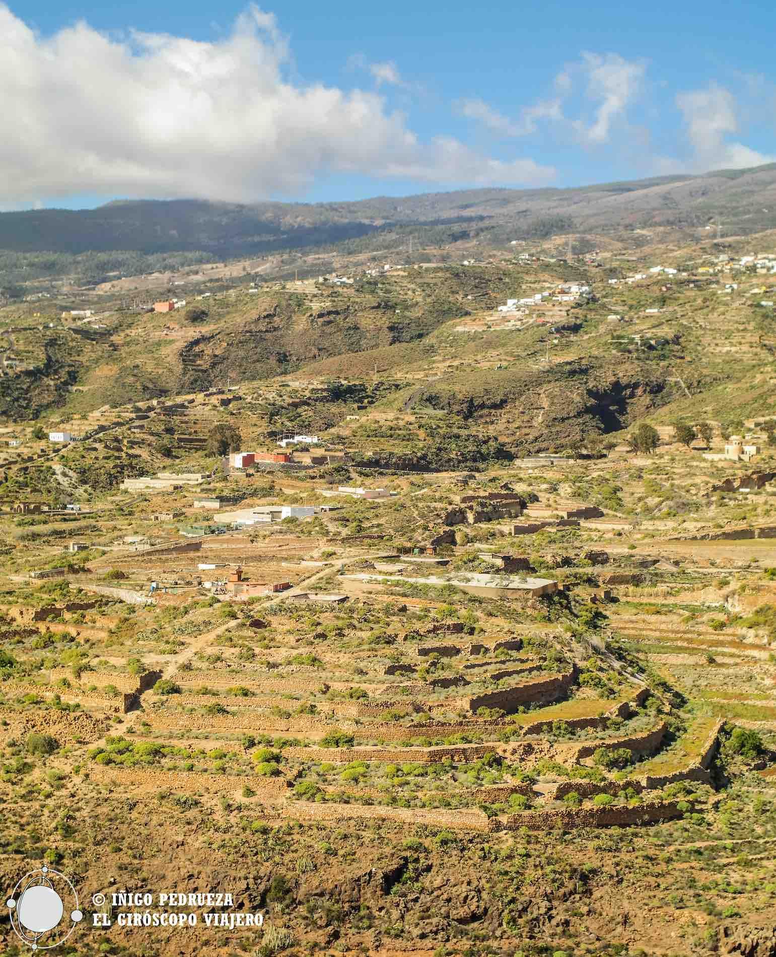 """Terraces, les """"bancales"""" à Fasnia."""