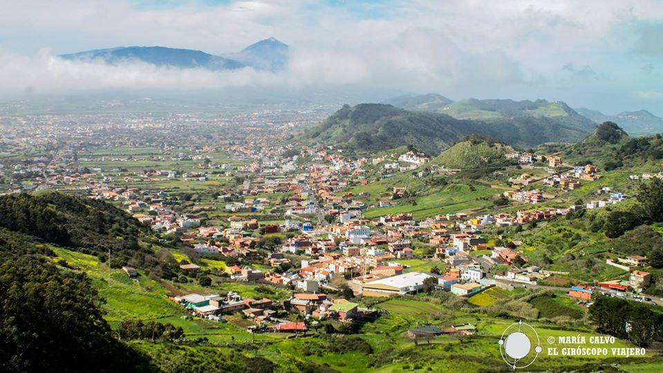 Vue de la vallée de Tegueste, un vrai coin de délices près de La Laguna et la mer. ©Iñigo Pedrueza.
